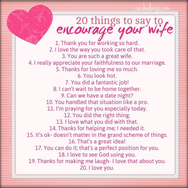 Encourage your wife printable- print out one for each spouse and use for marriage conferences, bridal showers... click through for more ideas!