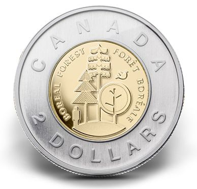 Canadian Coin Collection: 2011 - Boreal Forest Toonie
