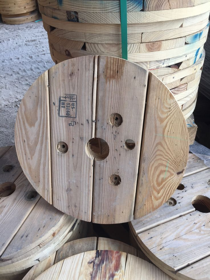 Reclaimed Wood Spool Tops Perfect for Making Spool Tables| Redeemed Redemption: https://www.etsy.com/listing/236049760/reclaimed-wooden-spool-tops?ref=shop_home_active_1