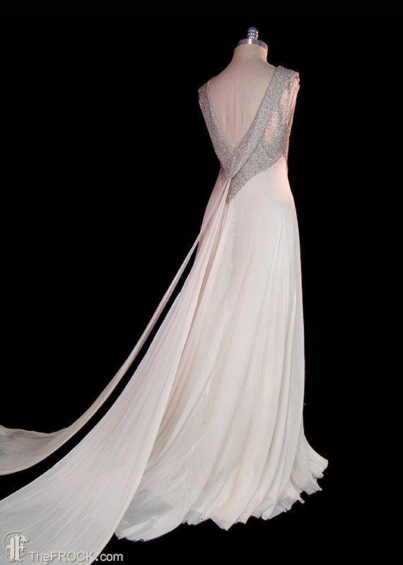 1930s Art Déco sposa / vestito da sera in di TheFrockDotCom