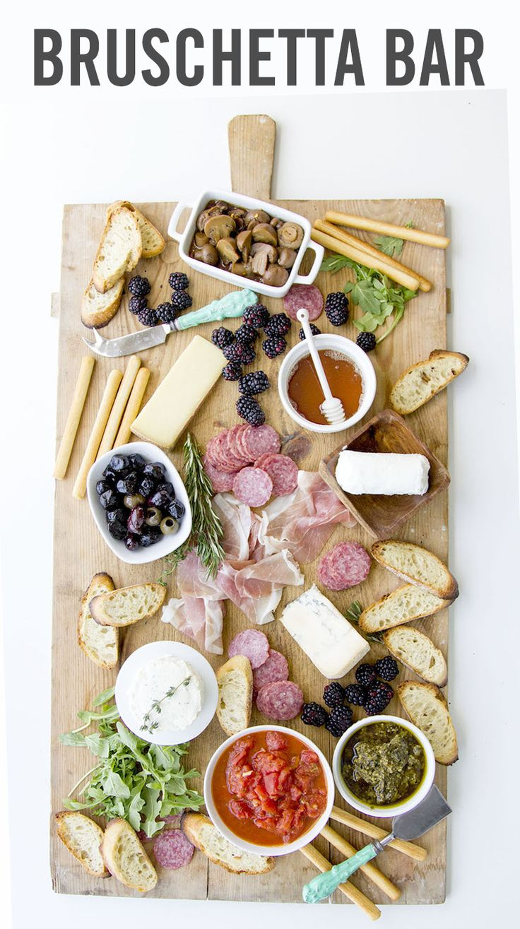 A little bit of thinking outside of the box can help you pull together a cocktail party in 15 minutes or less. Rather than cooking, chopping, simmering, and sautéing a table full of party eats, prep a Build-Your-Own Bruschetta Bar, and invite your guests into an interactive food experience. Whatever your party budget, whatever your guest list size, a DIY bruschetta bar is perfect.