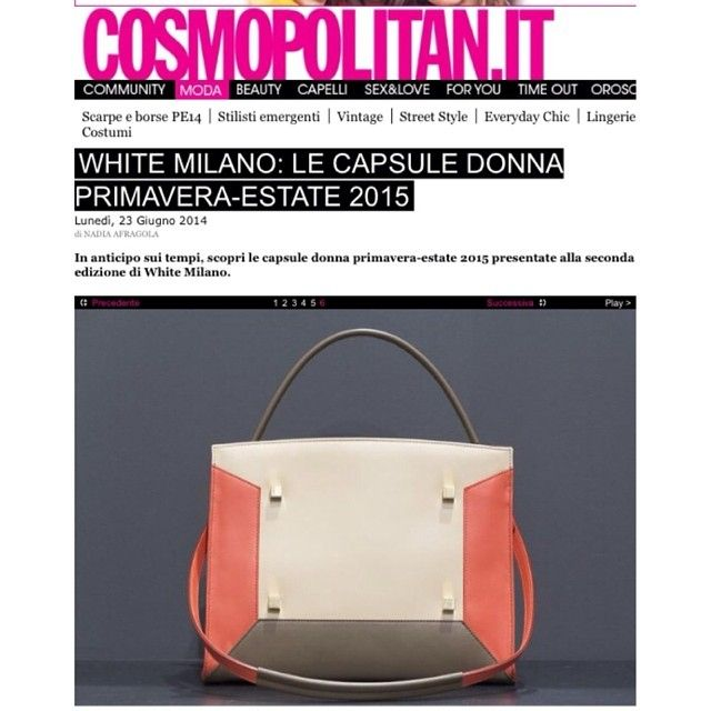 Even the Fashion Magazione COSMOPOLITAN talks about MANURINA's bags! You can find them at WWW.FINAEST.COM | #fashion #magazine #woman #trendsetter #shoponline #finaest #manurina #loveforever #golook #fashiondiaries #glamour #bags #milano #madeinitaly #press