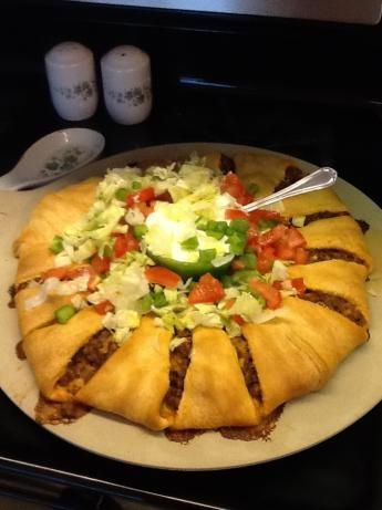 This is a taco ring and we did have it for dinner during the SuperBowl - it was absolutely fantastic!!