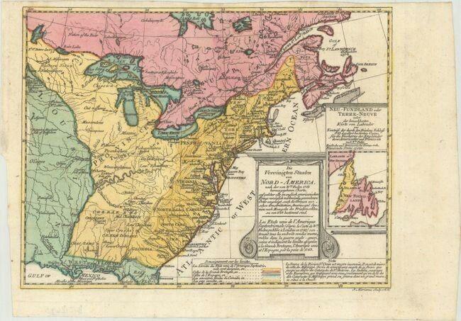 Colonial Eastern United States Canada Sotzmann Daniel Friedrich