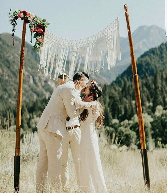 Breathtaking Bohemian Outdoor Wedding Altar: Best 25+ Outdoor Wedding Backdrops Ideas On Pinterest
