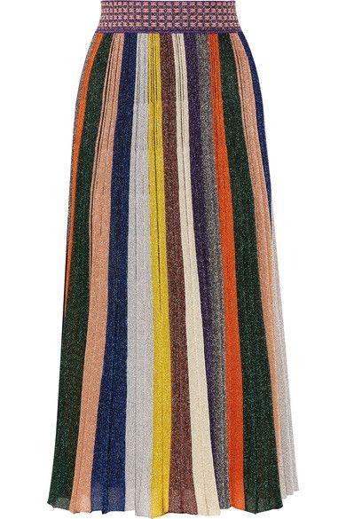 Multicolored wool-blend  Slips on 72% wool, 17% polyester, 7% nylon, 4% elastane; lining: 97% silk, 3% elastane Dry clean Made in Italy
