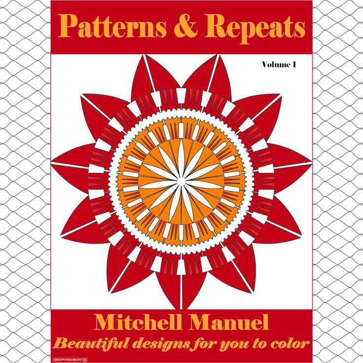 Patterns and Repeats: 35 Beautiful designs for you to color by ColoringinBooklet on Etsy