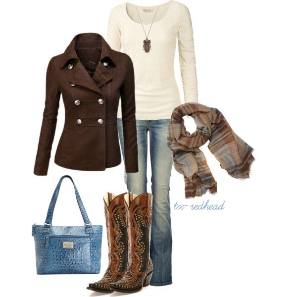 Untitled #182 by tx-redhead on Polyvore featuring Fat Face, LTB by Little Big, Marc Fisher, With Love From CA and Mulberry