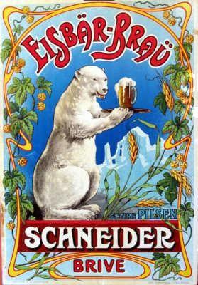 Vintage Beer Poster -  Schneider Brive