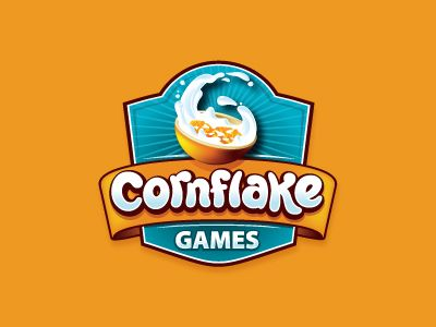 Cornflake Games Logo Design