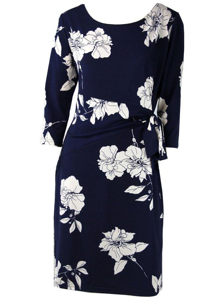Odos Navy Floral Dress