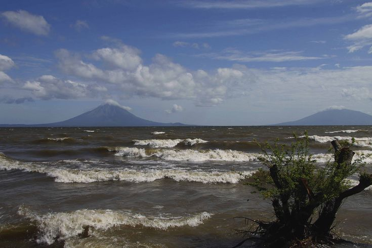 https://flic.kr/p/98AW1q | Lake Nicaragua | The largest lake in Central America at over 100 miles long, Lake Nicaragua has had several names, the indigenous tribes called it Cocibolca, the Spanish conquerors named it La Mar Dulce. Rainfall and inflow from numerous rivers feed Lake Nicaragua; outflow only occurs at the San Juan River flowing to the Caribbean Sea. There are 40 different fish species living in Lake Nicaragua, including the Bull Shark.