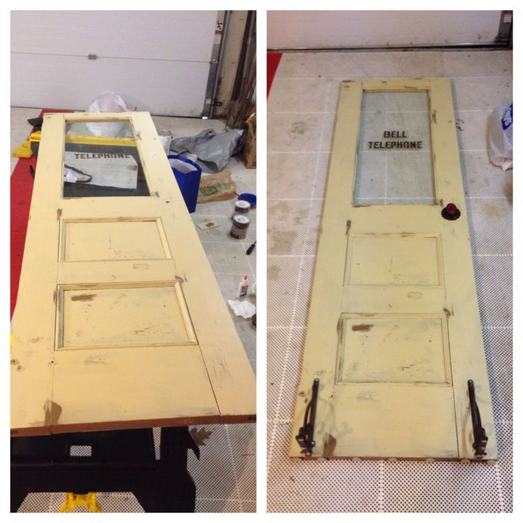 Almost done! DIY old Bell Telephone door