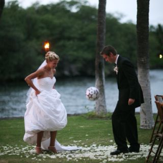 Soccer at the wedding? Yes if your are a us soccer star!