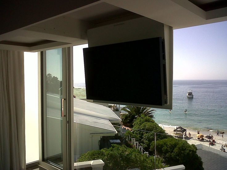 so you have this beautiful view and no where to put your tv without spoiling it
