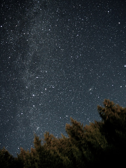 Constellation Cassiopeia & Andromeda Galaxy, Imaged from Mount Revelstoke National Park, BC