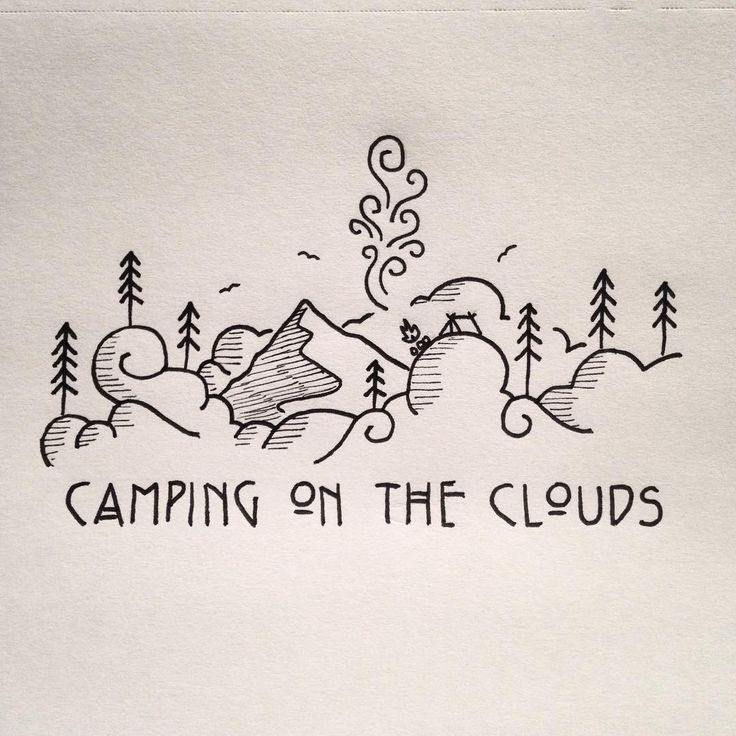 Little doodle of some d00ds camping on the clouds. #drawing #doodle #doodling…