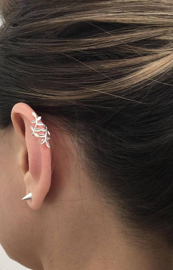 925 Sterling Silver Ear Cuff, Silver Ear Cuff, Tiny Ear Cuff, Cartilage Cuff, Cross Ear Cuff, Silver Tiny Ear cuff, Ear Cuff.