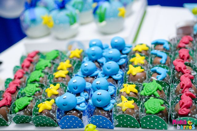 Treats at an Under the Sea Party #underthesea #party