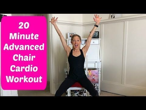 20-Minute Advanced Chair Cardio Workout Video You Can Do With A Foot or Ankle Injury - YouTube