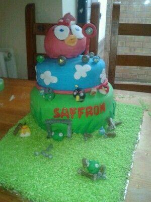 Angrey birds cake for angry birds partt