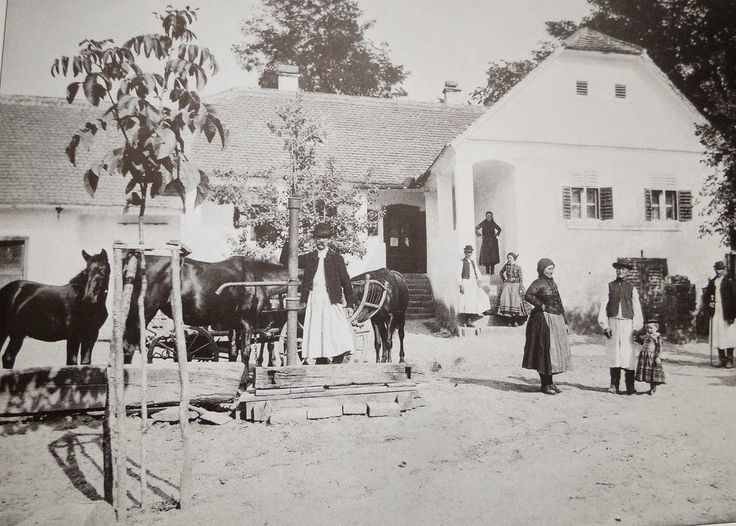 Jómódú gazda háza Baranya vármegye Mocsolád 1890