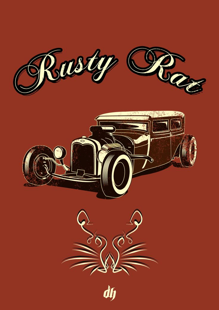 #Ratrod #Hotrod #Poster #Art #Classic #pinstripe