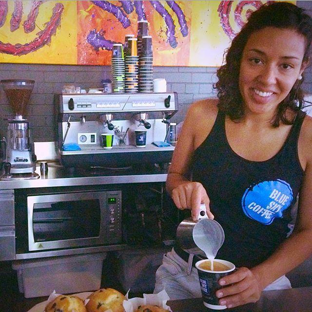 Takeaway coffee from Blue Sky Coffee