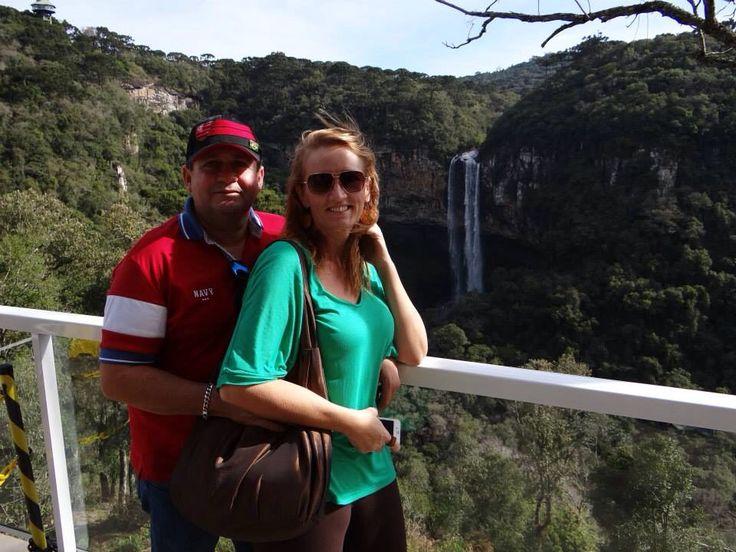 """Cascata Caracol Vista dos """"Bondinhos Aéreos"""" em Canela-RS Ótima sugestão de passeio para quem viaja a Gramado!"""