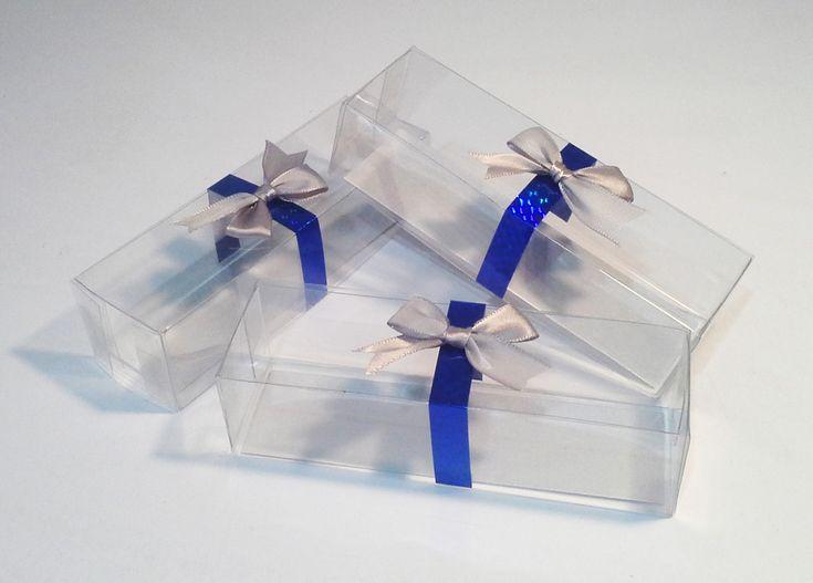 Cajas de acetato para bombones decorados