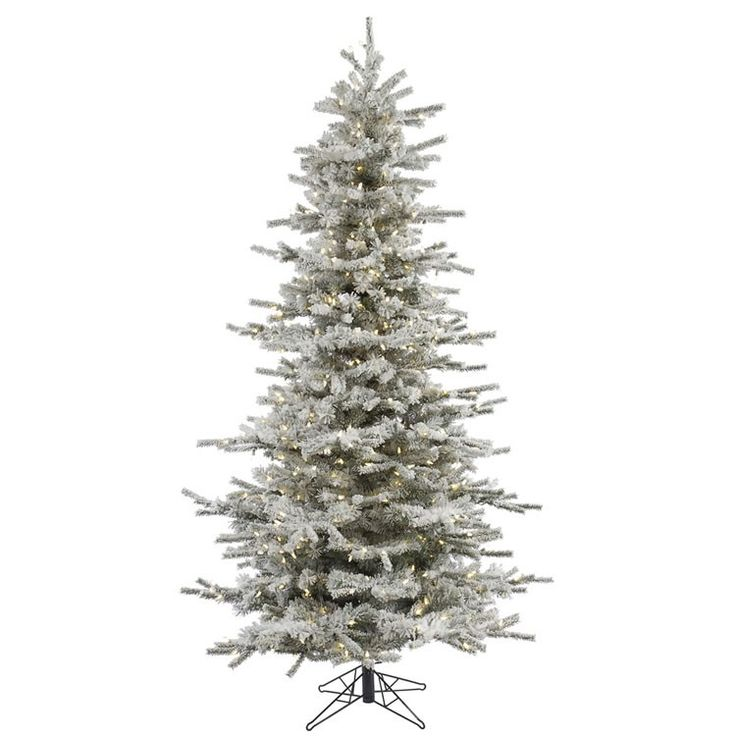 Frosted Slim Christmas Tree: 1000+ Images About Flocked & Frosted Trees On Pinterest