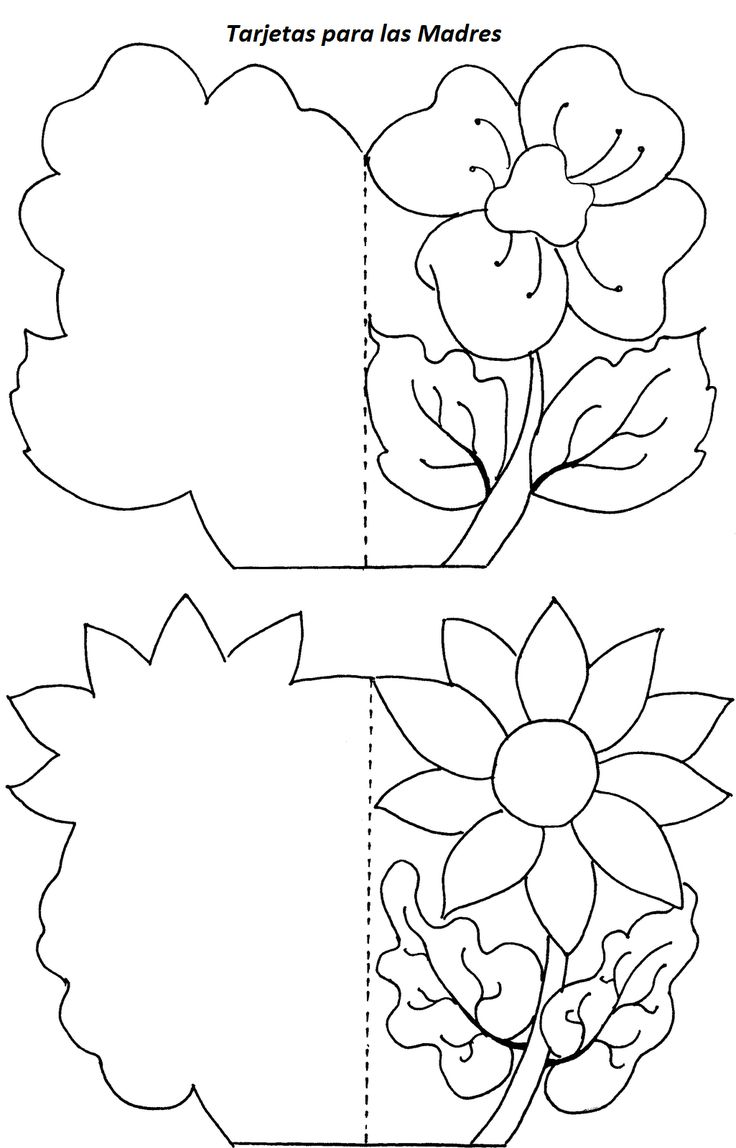 Imagenes • Tarjetas dia de la madre para colorear en ingles