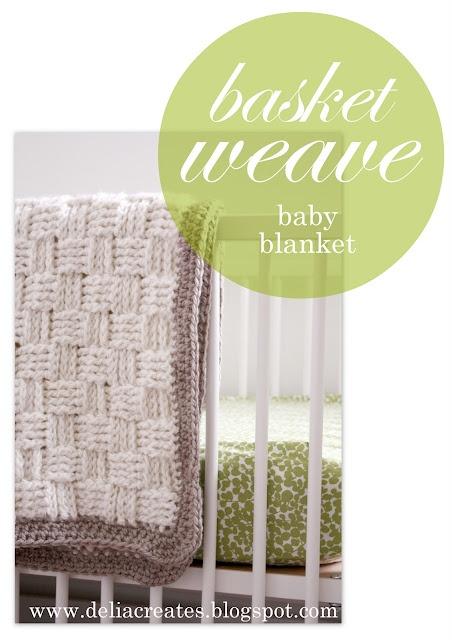 DIY Crochet Basket Weave Baby Blanket