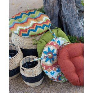 Coral Coast Cantara Bistro Outdoor Round Seat Cushion - 16 in. diam. - Outdoor Cushions at Hayneedle