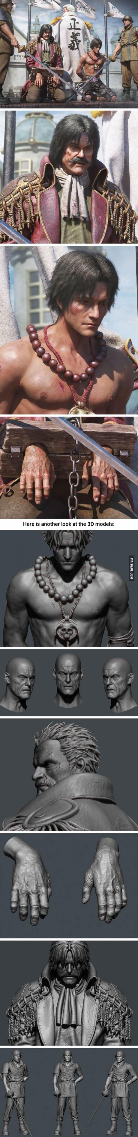 Realistic 3D One Piece Artwork By Chinese Artist Zhong Zhengxiang