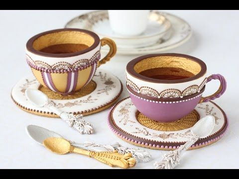 #NEW VIDEO ALERT: How to Make 3-D Teacup Cookies by Julia M Usher of Recipes for a Sweet Life