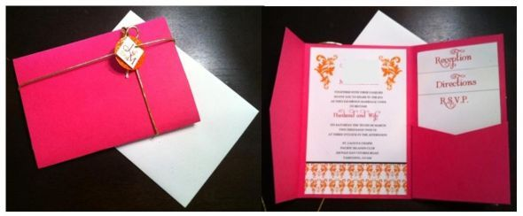 DIY pocketfolds how to (lots of effort but costs less than half!) :  wedding invitations pink Combine