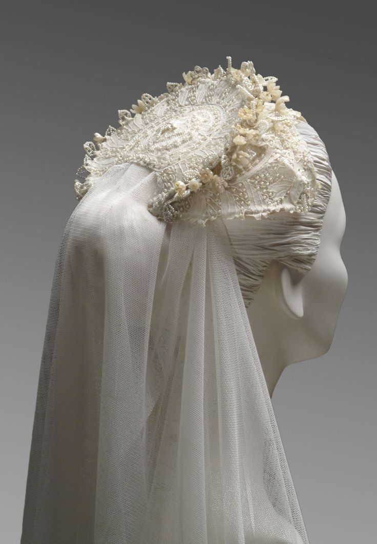 Coiffure mariage : Philadelphia Museum of Art – Collections Object : Grace Kelly's Wedding Head…
