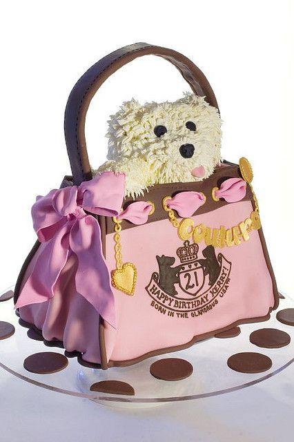 Puppy in Handbag Cake by studiocake, via Flickr