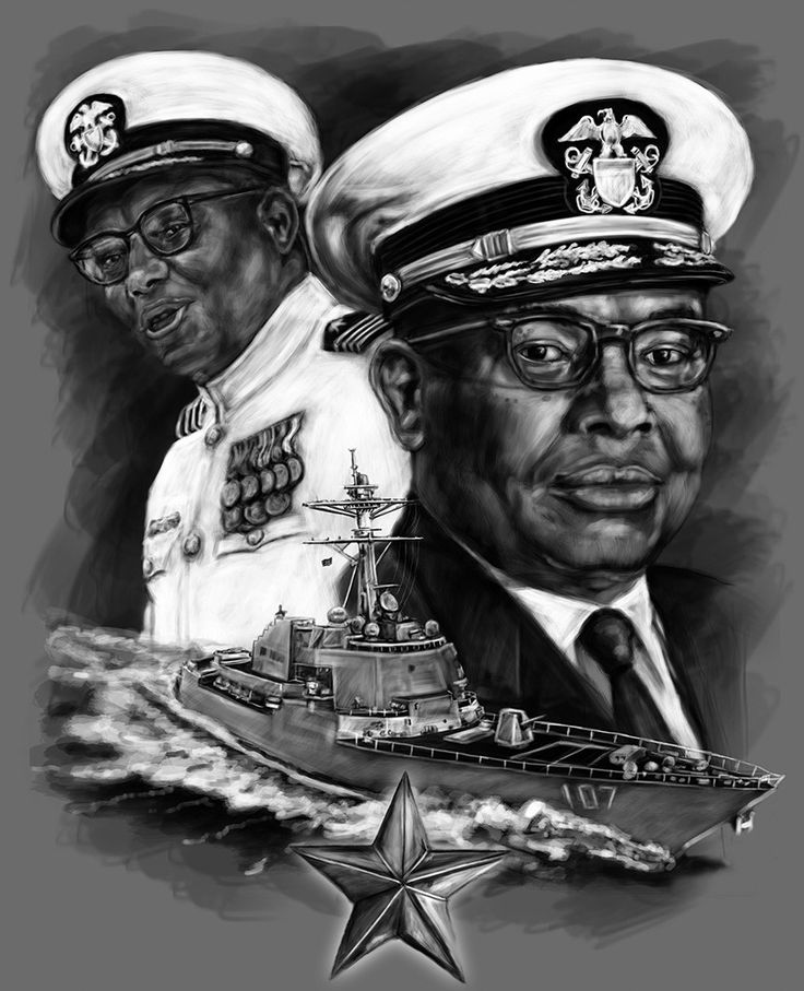 Samuel Lee Gravely, Jr., enlisted in the Naval Reserve in September 1942. Gravely was called to active duty in 1949 and was the first African-American to achieve flag rank in the Navy.