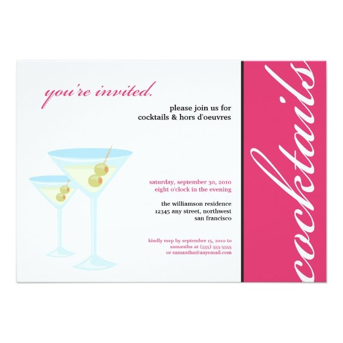 1013 besten Cocktail Party Invitations Bilder auf Pinterest
