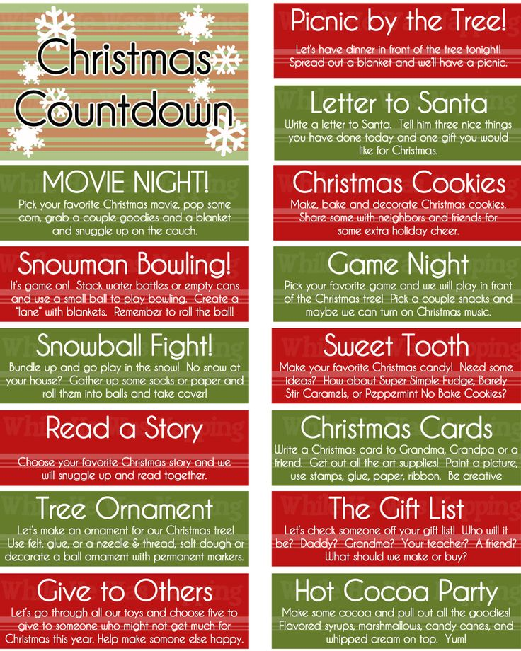 Free printable kid's Christmas countdown jar. A great way to help the kiddos countdown to Christmas!