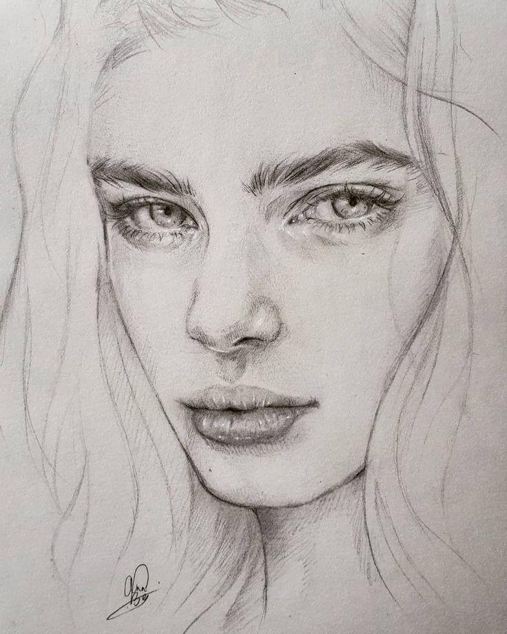 картинки портретов рисунок карандашом что немаловажно