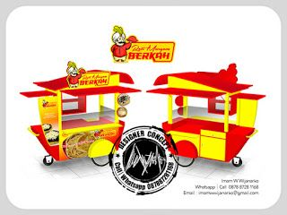 Desain Logo | Logo Kuliner |  Desain Gerobak | Jasa Desain dan Produksi Gerobak | Branding: Desain Gerobak Dorong Roti Maryam Berkah