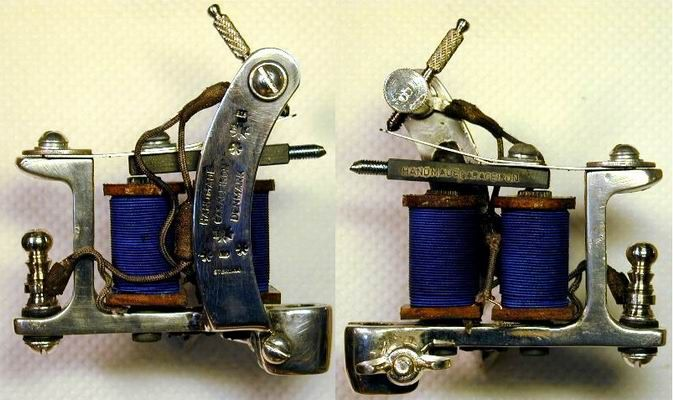 TattooMachine Sterling Silver BBB Dog Tattoo Machine