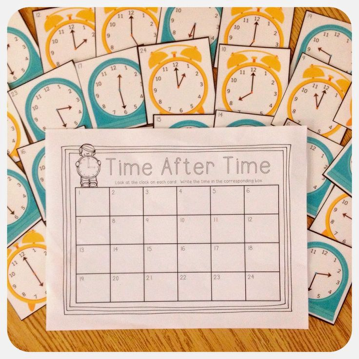 FREE Telling Time Write the Room (or Math Center) Activity with cards and recording sheet
