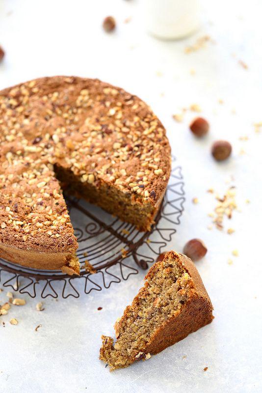 Gâteau fondant aux noisettes (sans gluten), noisetier
