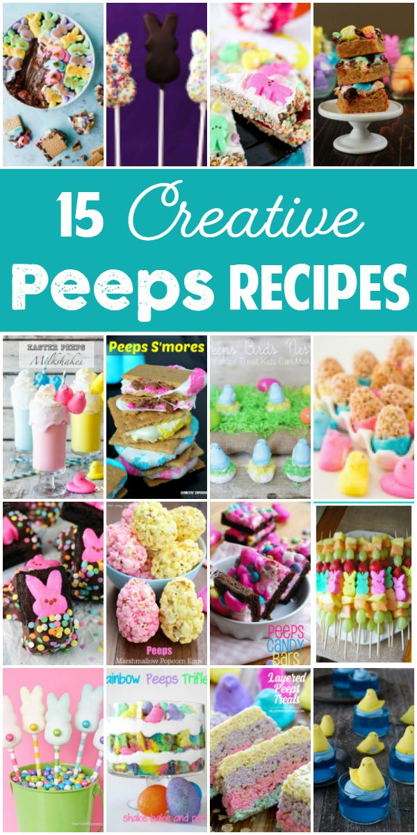 16 Creative Peeps Recipes -- While Peeps are yummy straight from the package, these Peeps recipes prove they can be even better dipped in chocolate, baked in a brownie and turned into trifle. | isthisreallymylife.com