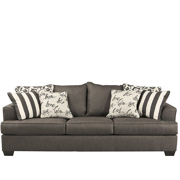 Levon   Charcoal Queen Sofa Sleeper With Memory Foam Mattress By Signature  Design By Ashley   Gill Brothers Furniture   Sofa Sleeper Muncie, Anderson,  ...