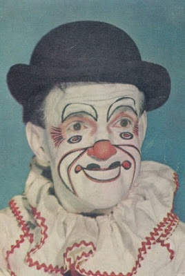 Vintage 1940s Clown Images - gruesome & beautiful #9